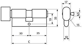 cilindro de puerta cerradura de seguridad cilindro perfilado cilindro de perfil KOTARBAU Cilindro de cierre cilindro doble