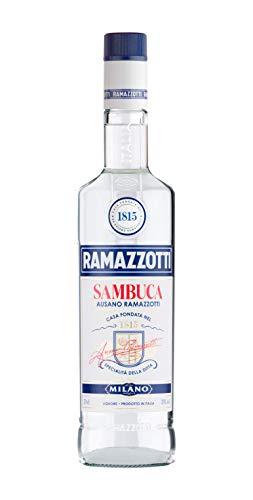 Ramazzotti Sambuca Likör – Italienischer Anislikör mit einer Auswahl an Kräutern, schafft den unverwechselbaren Sambuca Geschmack, aus dem Traditionshaus Ramazzotti – 1 x 0,7 L