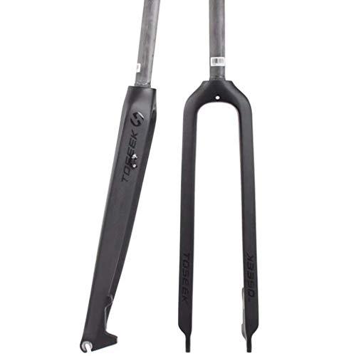 Lefuyan Full Carbon Fiber MTB Fork, 26 27.5 29 Inch Mountain Bike Hard Fork Bicycle Front Fork Disc Brake Full Carbon Straight Tube (Size : 26)