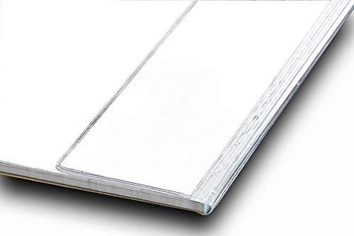 Kantenschutz für Schreibtischunterlagen | transparent + selbstklebend | Schutzleiste für Schreibunterlagen, durchsichtig - Schreibgefühl® Größe für DIN A2-59,4 cm lang