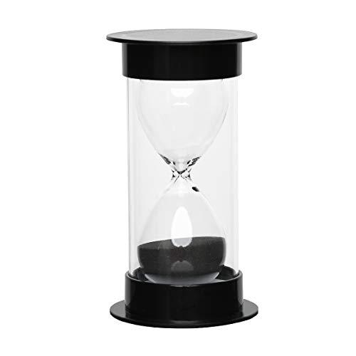 Toirxarn Reloj de arena, doble protección, asistente de gestión del tiempo, regalo creativo, decoración de la oficina de la sala de estar - 60 minutos Negro