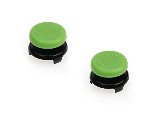 Amazon Basics - Tapones para mando de Xbox One, 2 unidades, Verde