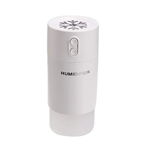 Haochide Multifunctionele luchtbevochtiger, mini-luchtbevochtiger, etherische oliediffuser, met USB-ledverlichting en mini-ventilator, met USB-aansluiting