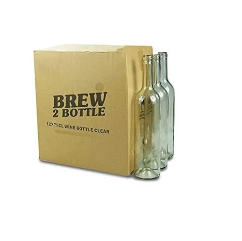 Velafee Botellas de cristal vacías, 750 ml, tapas recargables reutilizables, herméticas para aceite de ginebra, vinagre, cerveza, vino, sidra, soda, vodka y agua (6 x 750 ml)