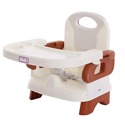 Kinderschreibtisch Fütterung Dinning Stühle Infant Klappstuhl Abnehmbare Tray Travel Booster Seat Ideal zum Schreiben, Lesen und Zeichnen (Farbe : Weiß, Größe : 32 * 38 * 44cm)