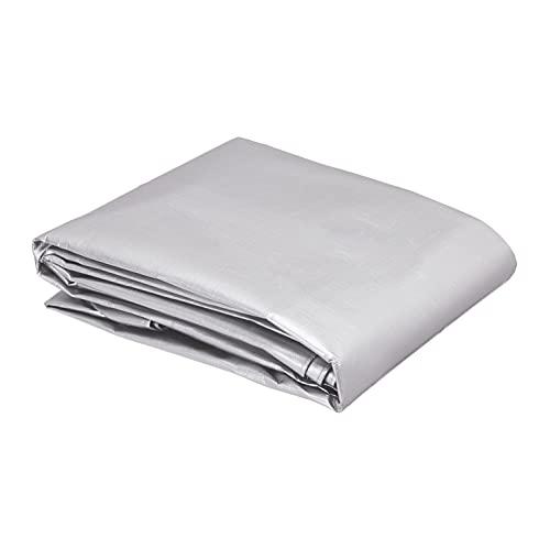 AmazonCommercial - Telo impermeabile multiuso in poliestere 3 x 3 metri, 0,4 mm di spessore, colore argento/nero, confezione da 1