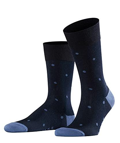 FALKE Herren Dot M SO Socken, Blickdicht, Blau (Dark Navy 6377), 43-46