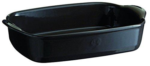 Emile Henry Eh799650 Petit Plat à Four Rectangulaire Céramique Noir Fusain
