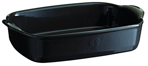 Emile Henry France Ovenware Ultime Rectangular Baking Dish, 11.4 x 7.5, Charcoal