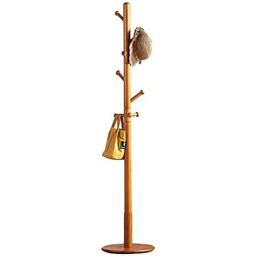Piedra de abrigo con estante de madera maciza 8Hooks Sombrero de pie Sombrero Hat Bagbag Hager, Abrigo industrial 38x38x175cm