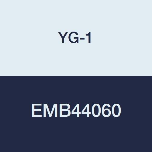 YG-1 EMB44060 6.0 mm Carbide V7 Mill INOX Corner Radius End Mill, 4 Flute, Short Length, 54 mm Length