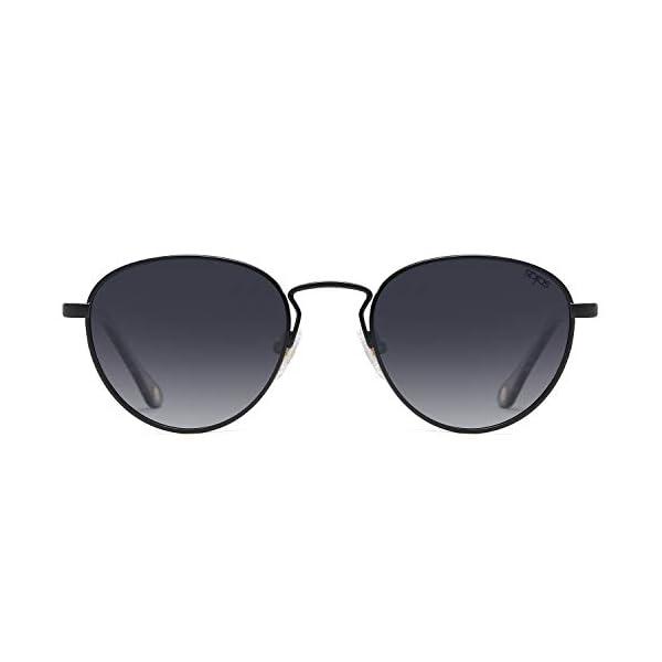 SOJOS Small Retro Oval Polarized Sunglasses with Acetate Temple Amber SJ1133