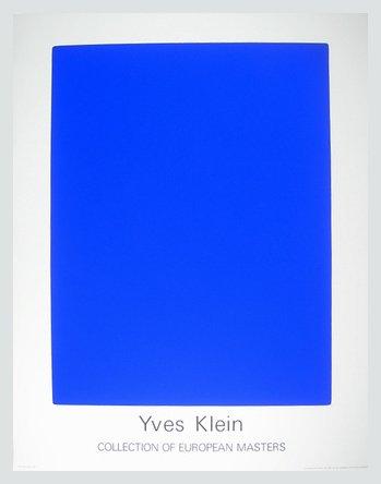 Germanposters Yves Klein IKB65 Poster Kunstdruck Bild im Alu Rahmen in Silber matt 90x70cm