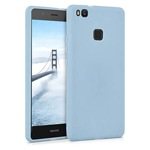 kwmobile Funda Compatible con Huawei P9 Lite - Carcasa de TPU Silicona - Protector Trasero en Azul Claro Mate