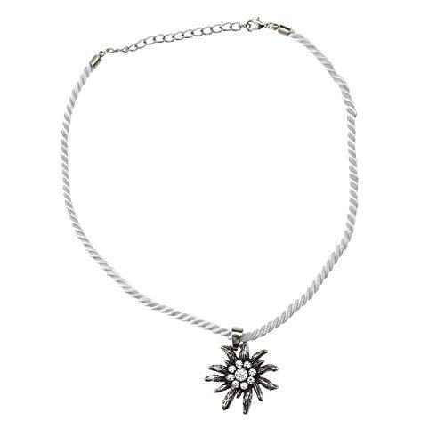ENET Dirndl Strass Blume Oktoberfest Halskette Trachtenschmuck Geschenk für Damen