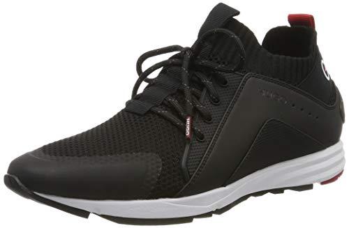 HUGO Hybrid_Runn_knlg, Zapatillas para Mujer, Negro (Black 1), 40 EU