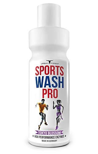 Vollwaschmittel für Outdoor,- Sport- & Funktionskleidung mit Geruchsentferner   Waschmittel für Sportbekleidung   Mikrofaser Sportwaschmittel   SPORTS WASH PRO   URBAN FOREST (1L) (TOKYO-BLOSSOM)