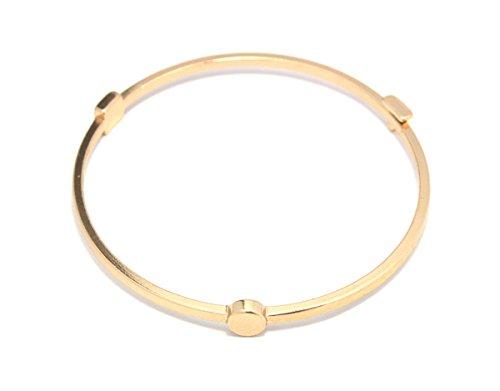 2LIVEfor Armreif modern Armreif Reifen Armband mit Dreieck Kreis Viereck Spitzen Armreif eckig geometrisch (Gold)