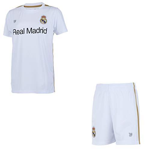 Real Madrid Conjunto Camiseta + Pantalones Cortos Colección Oficial - Niño -...