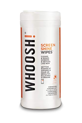 WHOOSH! Screen Cleaner Wipes - Good for All Screens - Smartphones, iPads, Eyeglasses, Kindle, Touchscreen & TVs (70 Count- Canister)