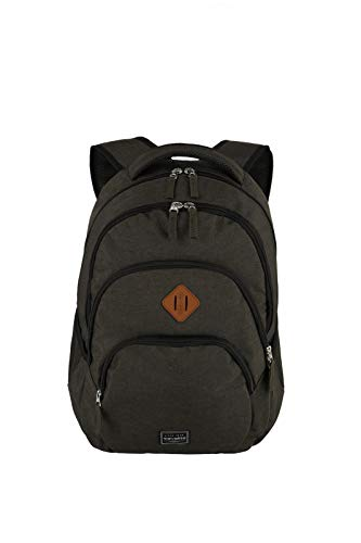 travelite Rucksack Handgepäck mit Laptop Fach 15,6 Zoll, Gepäck Serie BASICS Daypack Melange: Modischer Rucksack in Melange Optik, 096308-60, 45 cm, 22 Liter, braun
