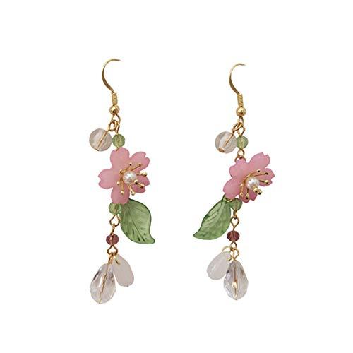 Temperamento freddo vento fiore orecchini donna petali fata lunga nappe tempesta agiscono il ruolo di orecchini e NA, colore: Colore, cod. KPA7212