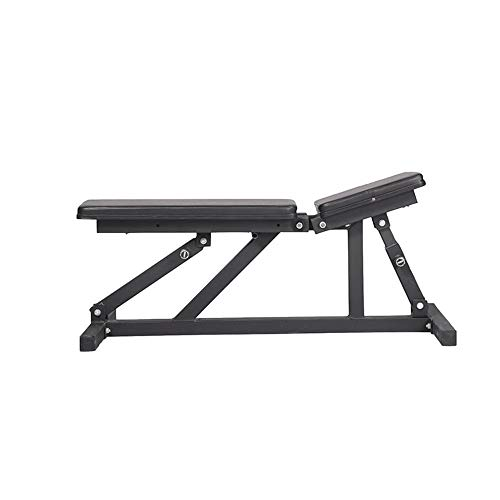 MICEROSHE Hantelbank Bench Bearing Home Fitness-Stuhl Multifunktions-Fitness Hanteltraining Big Flat Hocker for Gewerbe Gym Sportgeräte (Farbe : Schwarz, Größe : 120x45x35cm)
