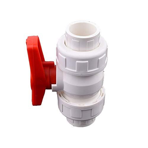 MDD Valvola A Sfera del Tubo del Tubo del PVC 20/25/24/50 / 50mm, per L'irrigazione del Giardino Connettore dell'Acqua del Tubo Dell'acquario Adattatore Dell'acquario Valvola di Chiusura