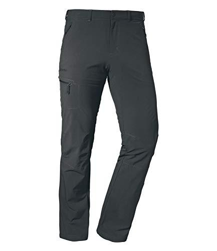 Schöffel Herren Pants Koper1 bequeme und robuste Herren Hose mit 4-Wege-Stretch, elastische und wasserabweisende Wanderhose für Männer, asphalt, 26