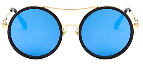 Gafas De Solgafas DeSol RedondasRojas Verdes paraMujer, Gafas De Sol De Diseñador De Marca para Mujer, Anteojos Ópticos para Mujer, Blackblue