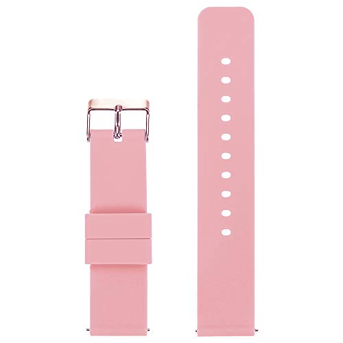 CMIOUEO 18MM Width Silicon Watch Band for Withings Activite Steel HR/Pop/Fossil Q Gen 3 Venture/Gen4 Venture/Venture HR/Ticwacth C2/Huawei B5 Smart Watch