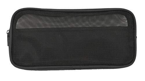 Idena 50042 - Kabeltasche Mesh klein, Farbe schwarz, 1 Stück