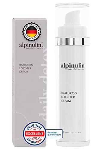 Alpinulin | Die Einzige deutsche Hyaluron Creme Gesicht mit dem reinsten Wasser der Welt | Tagescreme mit Hyaluronsäure Serum, Hyaluron Creme mit Hyaluron Serum hochdosiert, Tagescreme Anti Aging