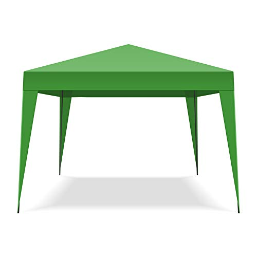 Folding 3x3MT Automatic Garden Gazebo Tent with carry bag color Green