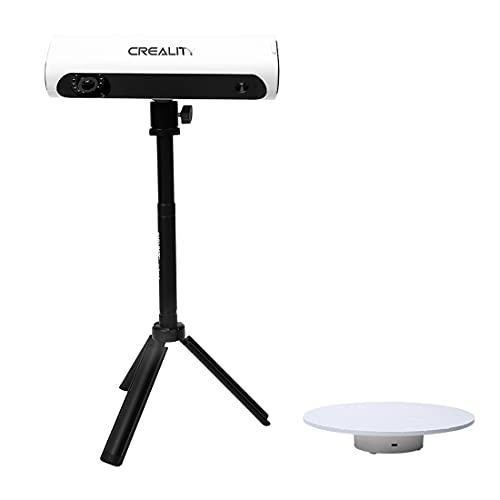 Creality 3D Scanner Élargit CR-Scan 01 3D Kit de scanner avec table rotative et trépied, scanner rapide, mode D portable, table rotative à 360 degrés précision de 0,1 mm