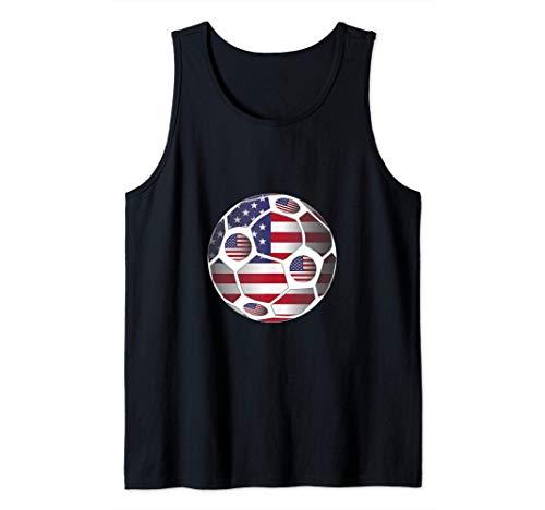 United States Flag USA Soccer Ball Team Fan Gift Camiseta sin Mangas