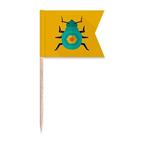 """Beauty Gift Altes Ã""""gypten Pharaoh Goldenes Muster Markierung für die Kennzeichnung von Zahnstocher-Flaggen"""