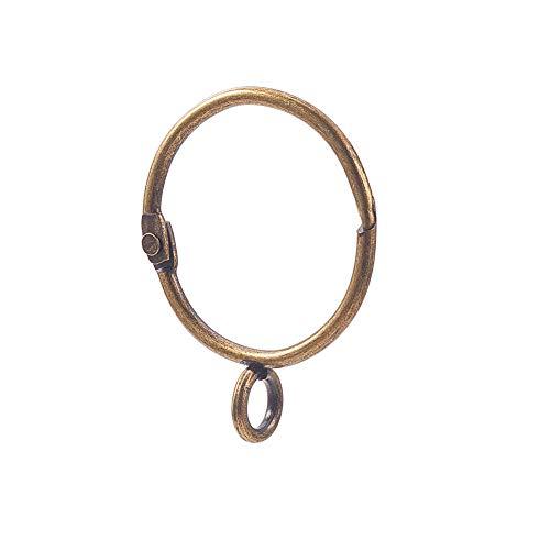 INCREWAY 16 Stücke Ringe Vorhang Clips, 38mm Vintage Eisen Gardinenringe Leicht zu öffnen und Schließen