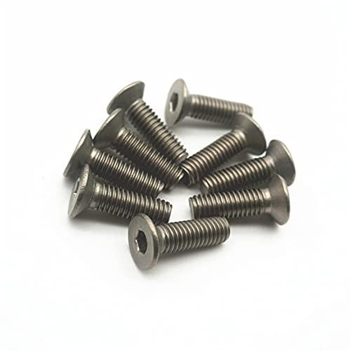 YIKXCF 20pcs Titanium Bolts M2 M2.5 M3 M4 M5 M6 Advulsivo Allen Drive TI Color No Pulido Tornillos de Titanio TI Sujetador (Dimensions : M5x50mm)