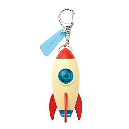 ドリームズ(Dreams) キーホルダー ベージュ プロジェクター ロケット キーライト アース VRT42713 7.7×3.0cm