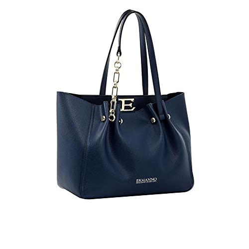 Scervino Ermanno Borsa Donna Shopping Grande Tote Giovanna Night Blue