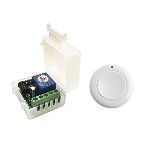 Bonarty Controlador de Acceso a La Puerta Del Receptor Del Interruptor de Control Remoto Inalámbrico DC 12V 433MHz