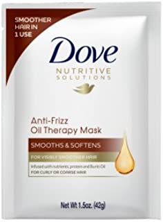 Dove Anti-Frizz Oil Smooth Hair Mask, 1.5 oz (Pack of 2)