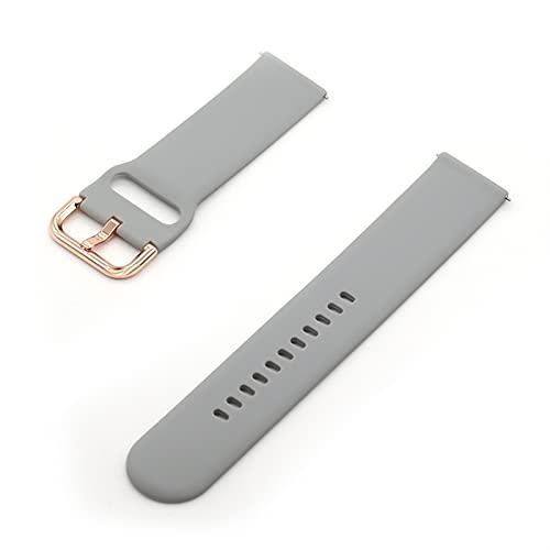 WWXFCA Correa de silicona de 20 mm y 22 mm para Amazfit GTS/2/2e/GTS2 Mini/GTR 42mm/47mm/GTR2/2e/stratos 2/3 Sport Watch Bracelet Amazfit bip strap (color de la correa: Q20, tamaño: 20 mm)