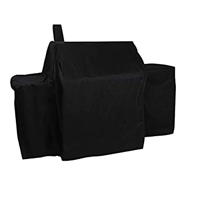 ProHome Direct Heavy Duty Waterproof Grill Cover for Char-Griller 2121,2123 Grills and Char-Griller Smokers,Black