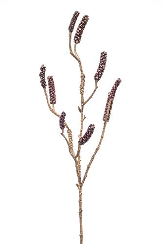 artplants.de Set 12 x Kunst Zylinderputzer Zweig DURERO mit Früchten, rot, 85cm - Kunstzweig Callistemon - Deko Zylinderputzer
