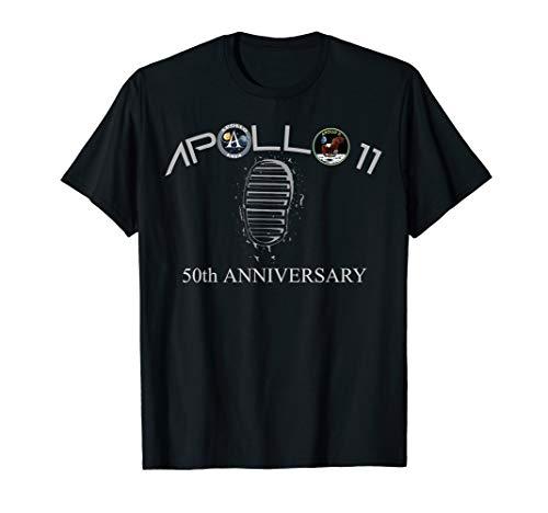 Apollo 11 50 jähriges Jubiläum Abzeichen Mond Fußabdruck T-Shirt