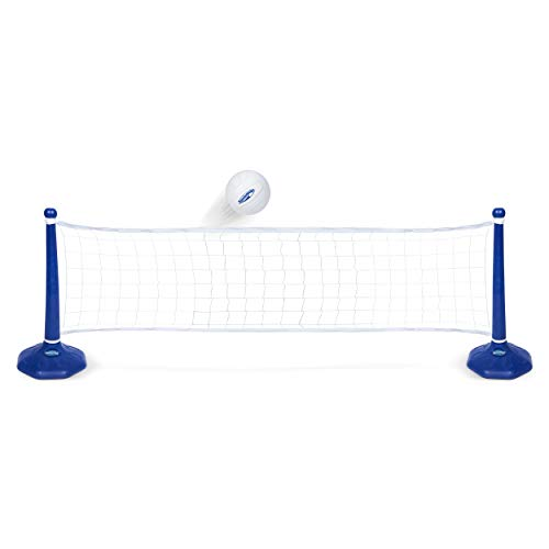 SwimWays Poolside Volleyball Set for Inground Swimming Pools