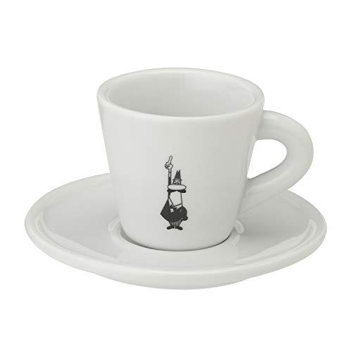 Bialetti Y0TZ098 Tazzina Espresso Istituzionale (con Piattino), Porcellana