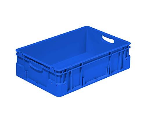 Eurobehälter 600x400mm / 60x40cm | Verschiedene Höhen und Farben/Stapelbehälter | Stapelbox | Transportkiste | Transportbehälter | Premium-Qualität Made in Germany (180 mm, blau)
